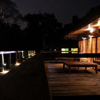 dusk at the lodge