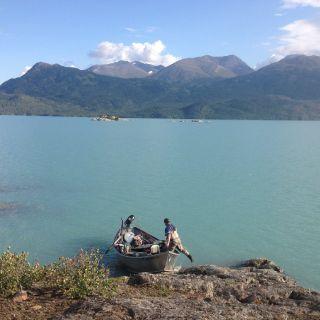 Skilak lake after upper Kenai Canyon float