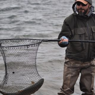 Big brown trout on Yakush Lagoon