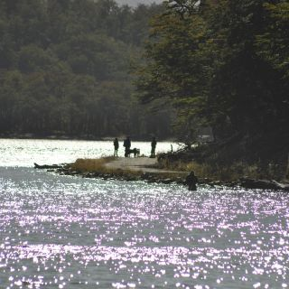 Paisaje en las.lagunas.de ushuaia