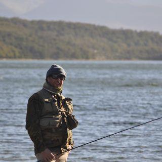 Contento.en el lugar de pesca