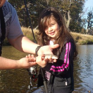Her first trout