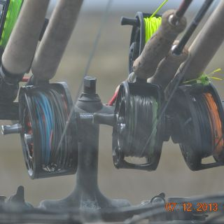 Rods going to the acction