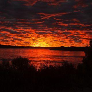 April sunsets in santa cruz