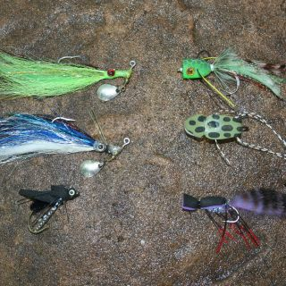 some effective Saratoga flys. They love feeding on the surface!