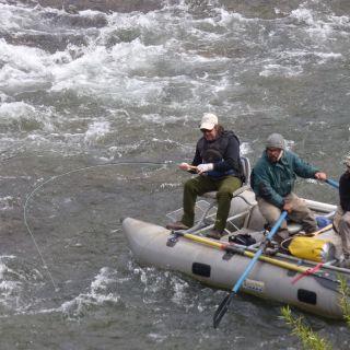 Captura en aguas rápidas... Río Aluminé