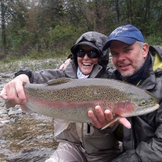 Savinja big rainbow trout