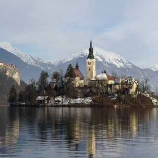 BLED LAKE ISLE IN WINTER - HUCHO FISHING SEASON TIME!