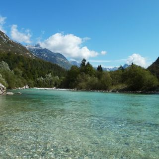 Drop-dead view on the Soca river valley..