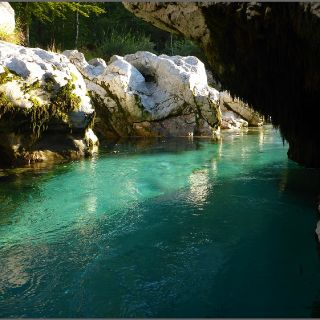 Hidden secrets of the Soca river.. Only Guides know the paths down there..