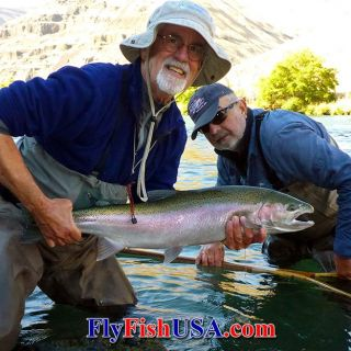 Oregon's Deschutes River is the best floating line fly fishing for steelhead in the Lower-48, July through October.
