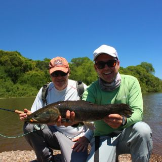Gabriel from R.S With a nice fish on the fly.