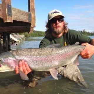 Our best rainbow trout fishing is August and September