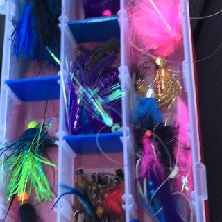 An angler's fly box.
