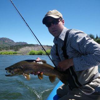 River float brown on Trout Bum Rio Pico program