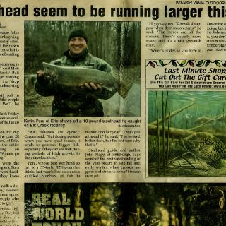 PA Outdoor News Article - Page 1.