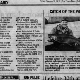 Catch of the Week - Erie Times Newspaper.