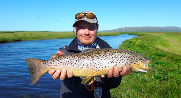 "Fly Fishing in Iceland with Guide Valdimar ""Maddi"" Valsson"