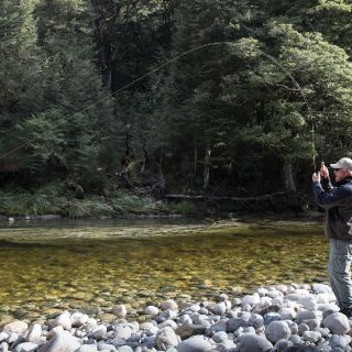 Client Bob (USA) Hooked up in Fiordland  South Island  New Zealand