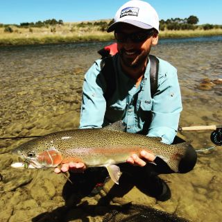Client Gregorio (Italy) Fiordland Large Rainbow Trout South Island  New Zealand Guide: Chris Reygaert