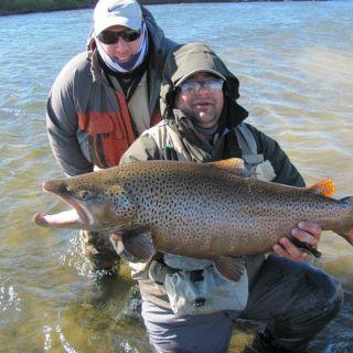 Big brwon on Ewan river