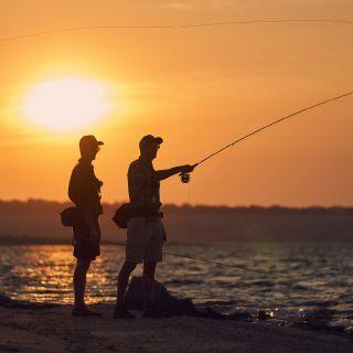 Barbel fishing.