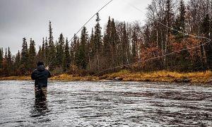 Chavanga river, Chavanga, Kola Peninsula, Russia