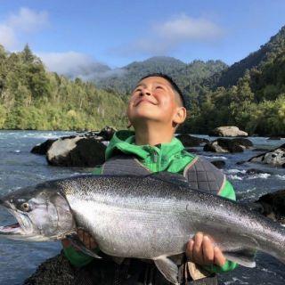 Silver salmon. con mosca streamer