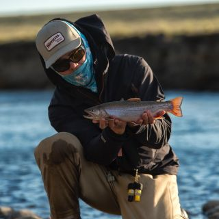 Traditional dry fly fishing for brown trout