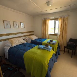 View of a double room in Pelke lodge