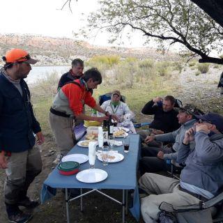 almuerzo con nahuel, el pata y los muchachos