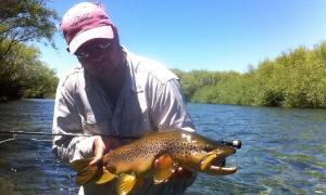 Chimehuin River, Collon Cura River , Junin de los Andes , Neuquen, Argentina