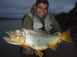 Pescando bajo la lluvia