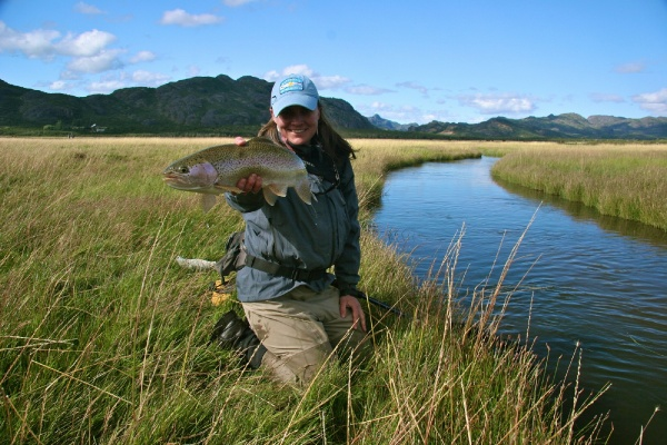 Whitney McDowell 's Fly-fishing Pictureof a Rainbow trout– Fly dreamers