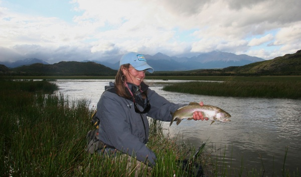 Whitney McDowell 's Fly-fishing Imageof a Rainbow trout– Fly dreamers