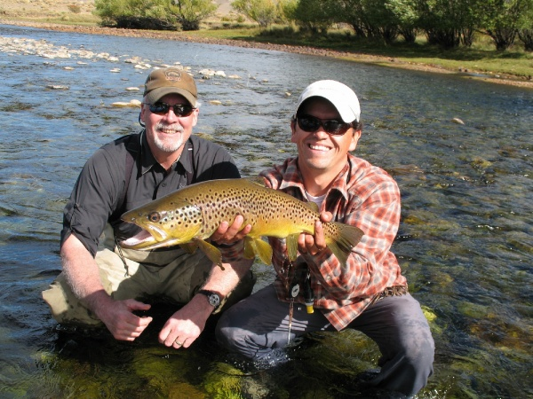 Edie Lewis 's Fly-fishing Picture of a Brown trout – Fly dreamers