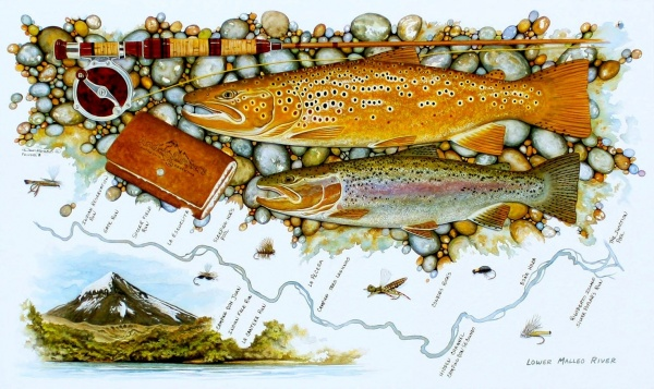 Impressive Fly-fishing Art Pic by <strong>Chip</strong> Drozenski
