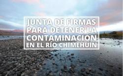 Junta de firmas para detener la contaminación en el Río Chimehuín