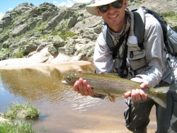 Fly fishing where the river born