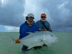 Alphosne Island Fishing News: 14 - 21 March 2015 – Big GT's, Milkfish, 3 Sailfish In Session and A Grand Slam.