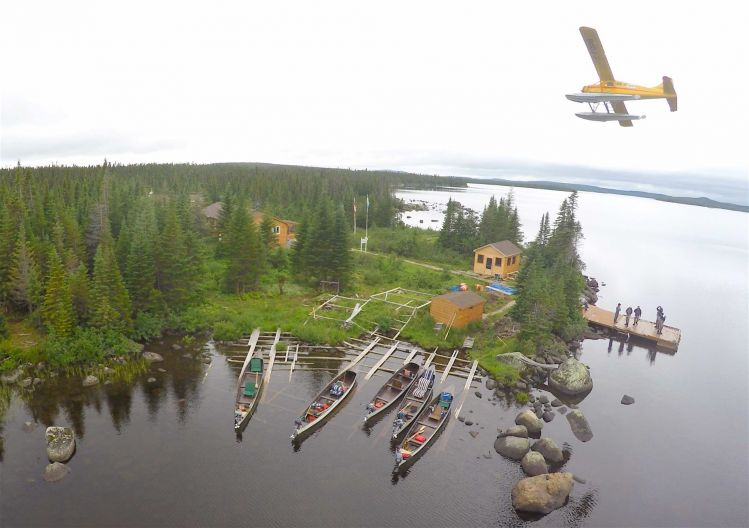 Drone photo of igloo lake lodge beaver floatplane fly for Lake of egypt fishing report