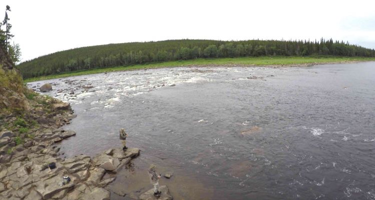 Extremely remote fly fishing for trophy atlantic salmon for Lake of egypt fishing report