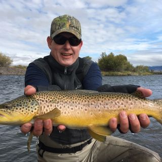 Streamer fishing on the Madison River in the fall