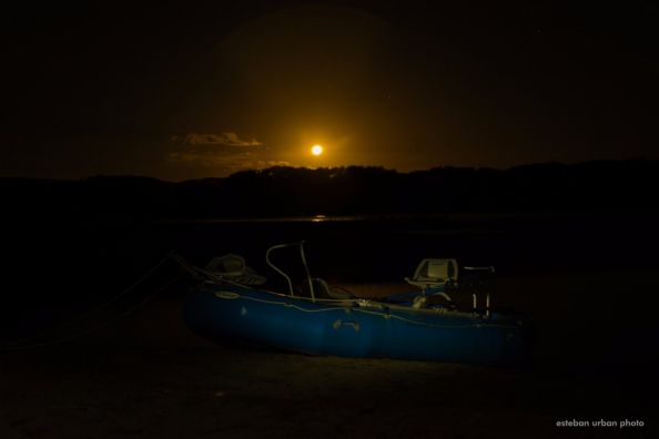 An amazing moon during our last rivesidecamp fly fishing trip on the Collón Cura river - northern patagonia Argentina.