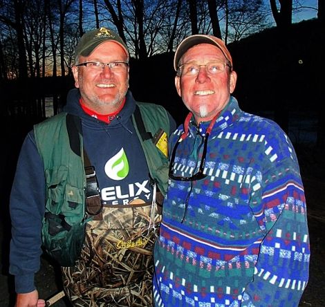 Robby and I 2017, we fished together for the past 30+ years. We finally met up on the water. It was a good day of fishing but it was even better running into my old time friends.