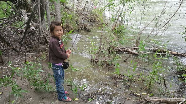 The look I get when I tell her the river is to high for fishing.  She calls them her magic eye's cuz she knows I can't say no.