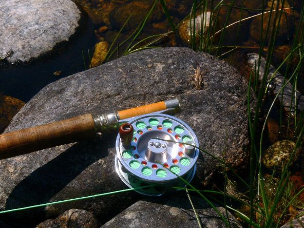 Fishing on the Selway river, North Idaho.