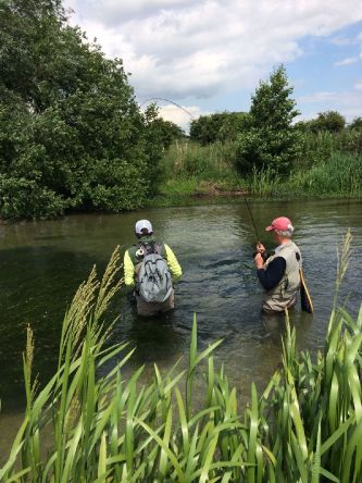 The moment it all comes together and that big fish on the far bank finally sips down a well presented dry fly. Thats what guiding is all about.