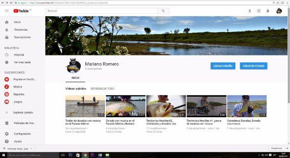 Nueva pagina de YOUTUBE, donde estan los nuevos video de pesca con mosca  https://www.youtube.com/watch?v=F3xblL8yD5o