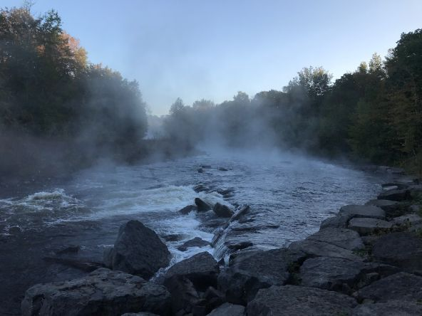 Morning fog on the Salmon River